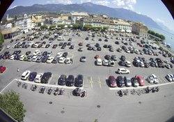 Parquery analyses more than 400 parking spots with 2 standard cameras in Vevey in Switzerland.
